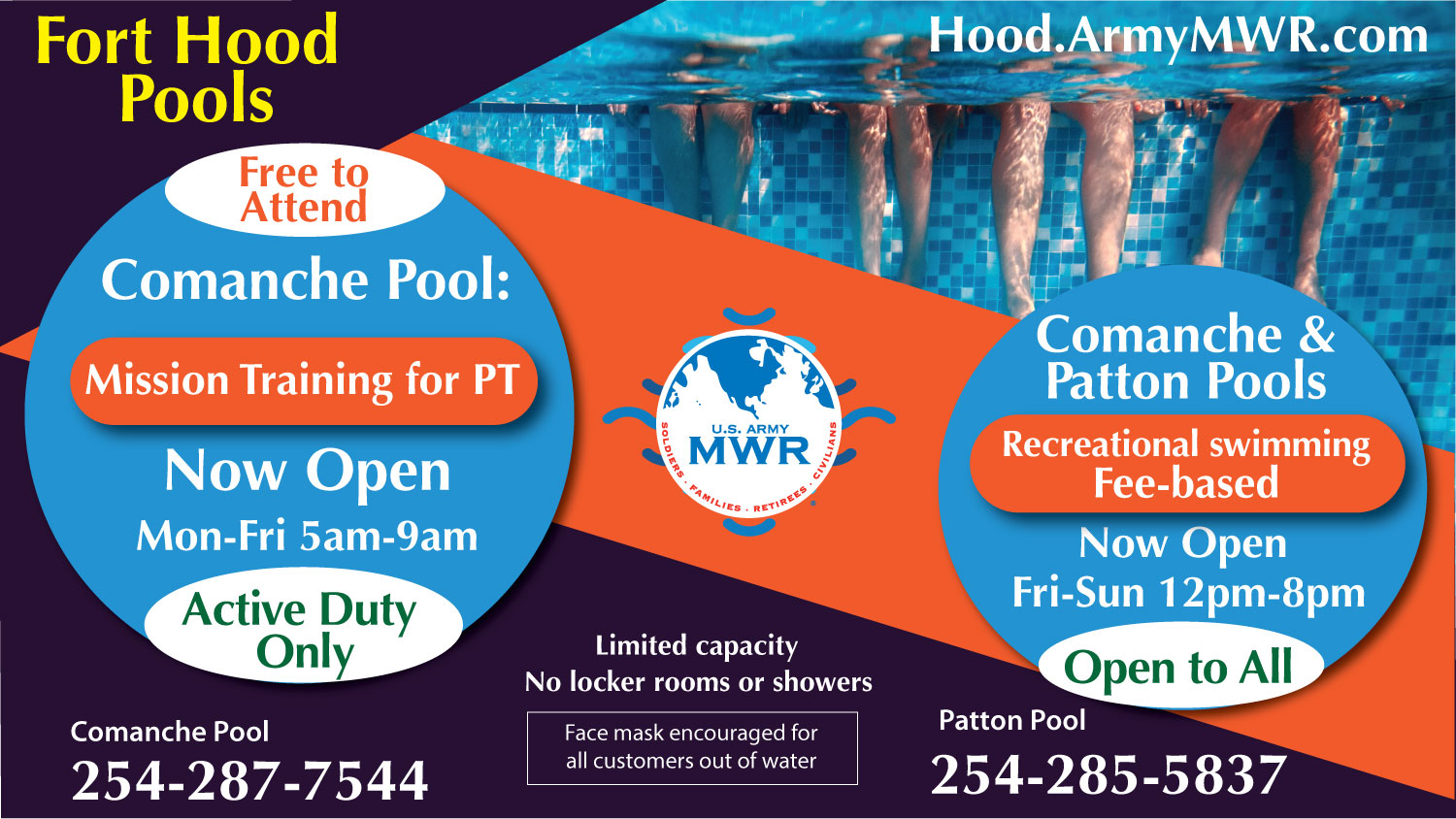 Open Outdoor Swimming Pools