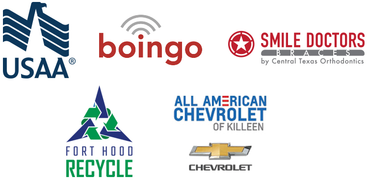 Single Soldiers festival Sponsors 2019 - USAA, Boingo, Smile Doctors