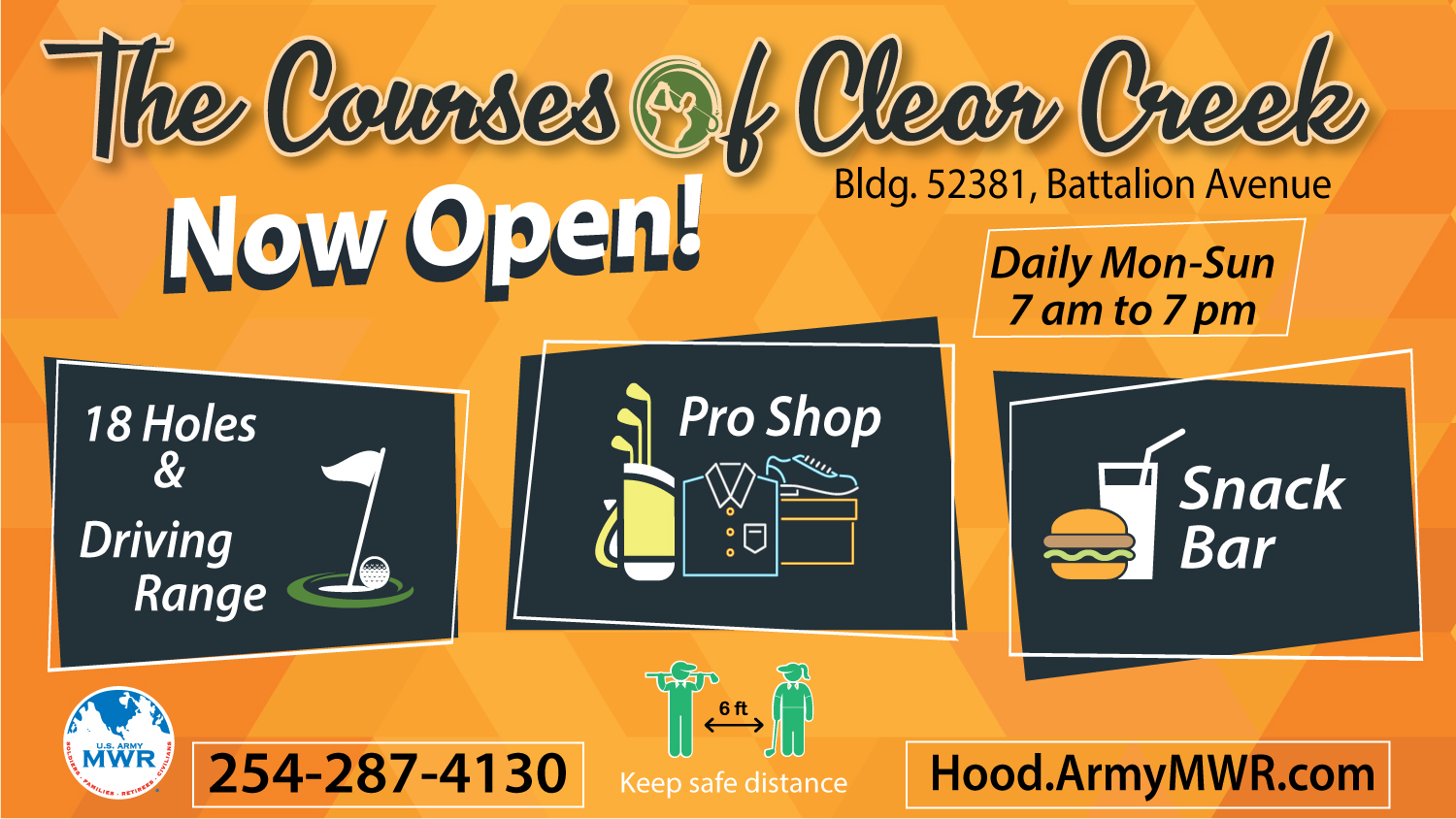 The Courses of Clear Creek is Open